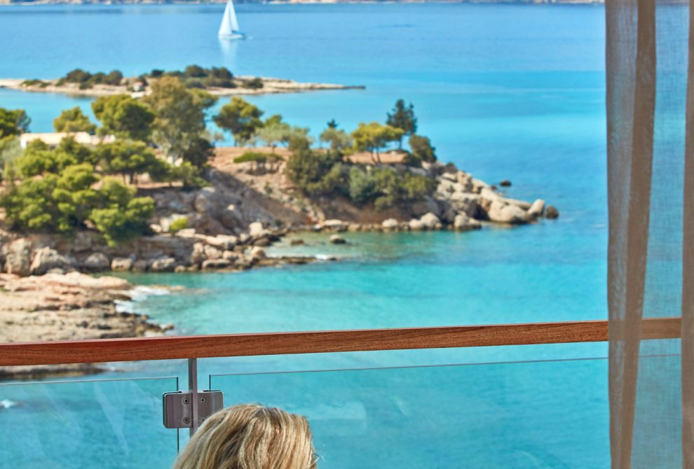 AKS Hinitsa Bay Hotel Standard δωμάτιο με θέα θάλασσα