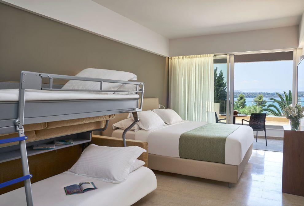AKS Porto Heli Hotel Family Room with Sea View