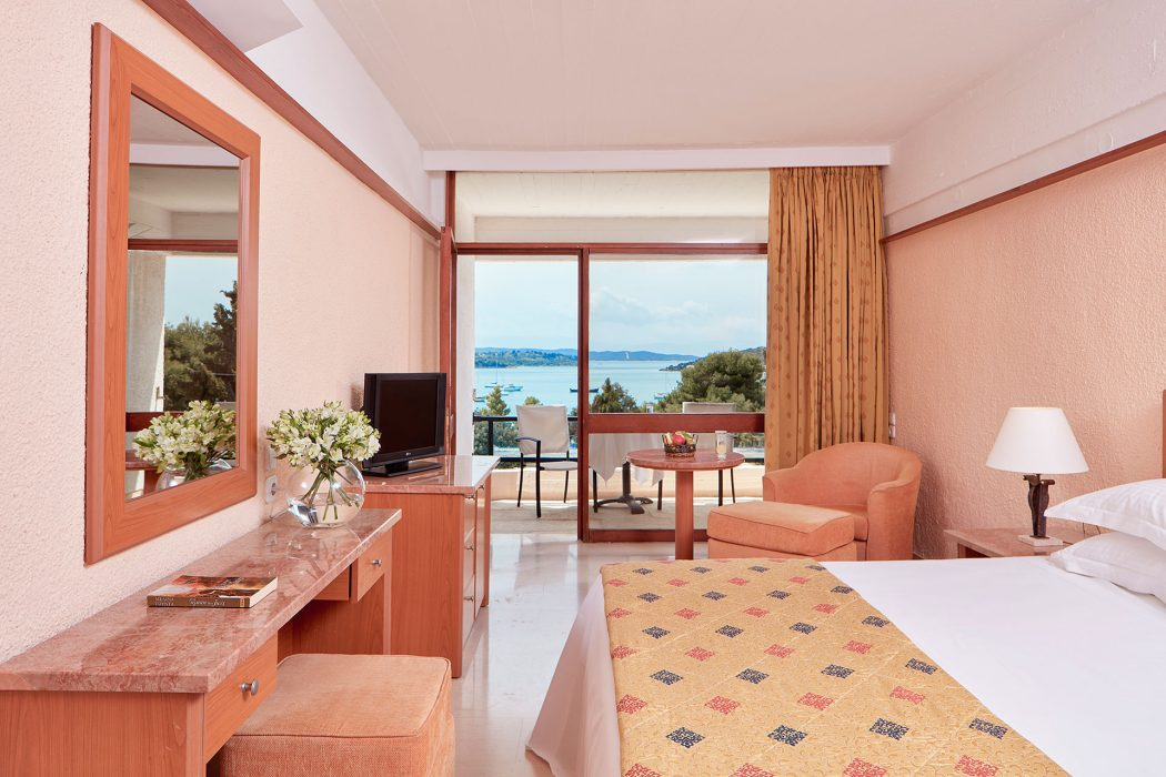 AKS Porto Heli Hotel Standard Double Room with Sea View