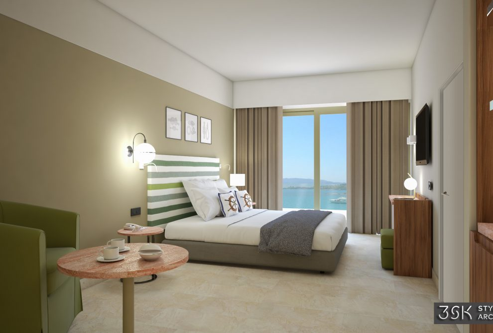 AKS Porto Heli Hotel Standard δωμάτια Interconnecting με θέα θάλασσα